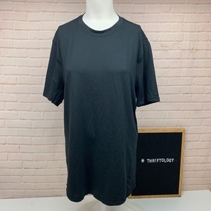 LULULEMON Men's Plain Black T-Shirt Tee L?